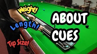 Snooker Cue Advice - Snooker Cue Tips