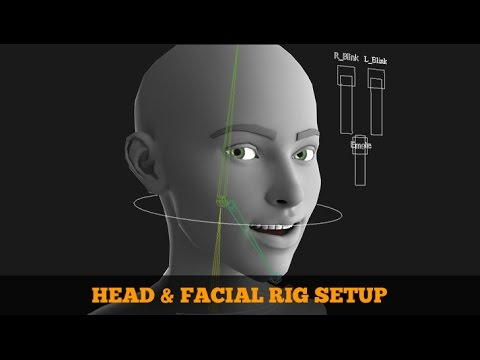 Head & Facial Rig Video Tutorial