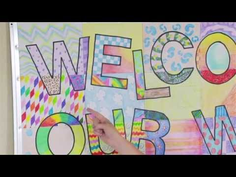 Ellison Education Video Series: Welcome Banner Bulletin Board