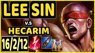 JANKOS (LEE SIN) vs HECARIM - 16/2/12 KDA JUNGLE CHALLENGER GAMEPLAY - EUW