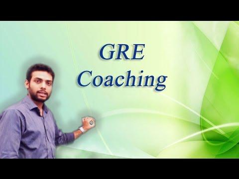 GRE Coaching by Mr. Vibhu Anurag