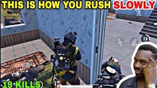 THIS IS HOW YOU RUSH SLOWLY • (19 KILLS) • PUBG MOBILE GAMEPLAY (HINDI)
