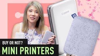 Mini Printer Comparison (Canon Mini Printer Vs HP Sprocket) | BUY OR NOT? #7