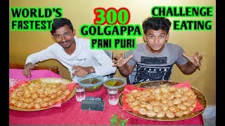 300 PANI PURI / GOLGAPPA EATING COMPETITION | Fuchka Challenge | Food Challenge