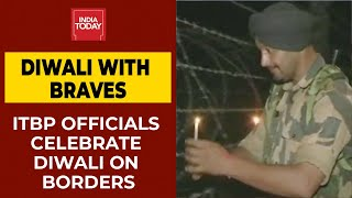 ITBP Officials Celebrate Diwali By Lighting Earthen Lamps On Sikkim, Jammu & Kashmir Borders  IMAGES, GIF, ANIMATED GIF, WALLPAPER, STICKER FOR WHATSAPP & FACEBOOK