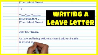 Leave Letter Writing | Request for leave due to fever