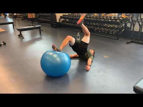 Swiss Ball Hamstring Curl - 2 In 1 Out