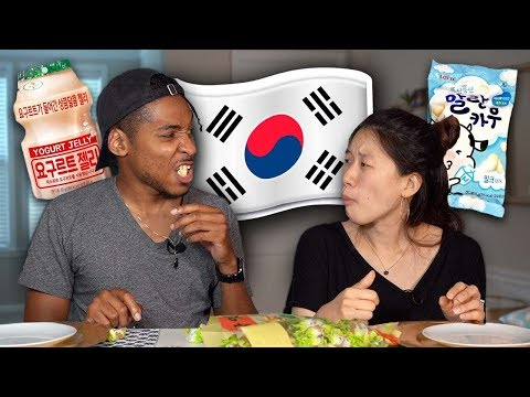 My Fiancé Tries Korean Candy For The First Time
