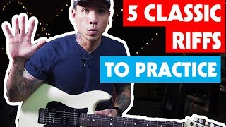 5 Classic Riffs That Make Great Exercises - Guitar Lesson W/ TABS