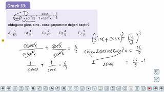 Eğitim Vadisi 11.Sınıf Matematik 2.Föy Trigonometrik Fonksiyonlar 4 Konu Anlatım Videoları