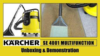 Karcher SE 4001 Multifunction Vacuum Cleaner Unboxing & Demonstration