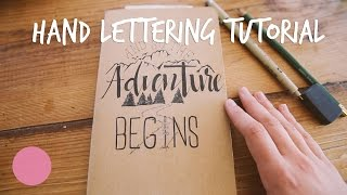 How to Hand Lettering and Calligraphy