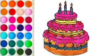 Colorings Cake for Child, Easy Colorization for Children