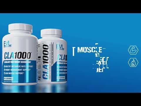 EVLution Nutrition, CLA1000, Stimulant Free Weight Management, 180 Softgels