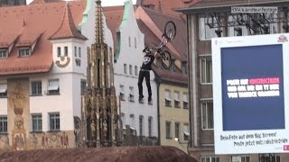 preview picture of video 'Red Bull District Ride 2014 Nuremberg - Best Trick Contest ALL TRICKS...incl. THE Tsunami Backflip'