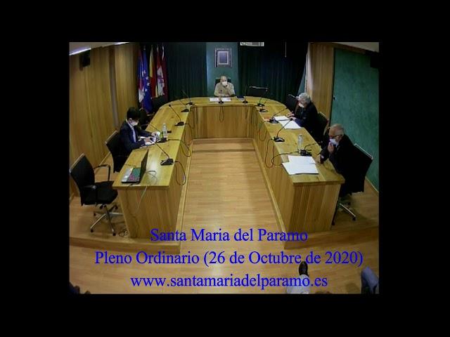 Pleno Ordinario (26 de octubre 2020)