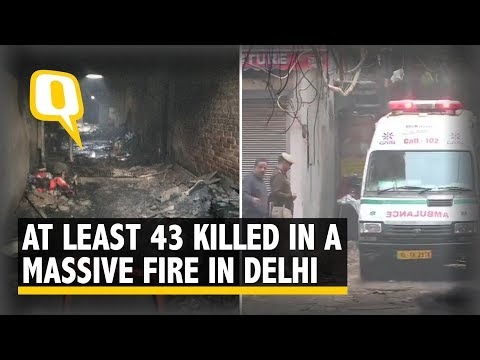 Massive Fire at Delhi's Anaj Mandi, At Least 43 Killed | The Quint
