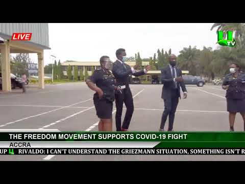 Freedom Movement Makes Donations Of Local Innovation To Combat Spread Of Covid-19 In Ghana