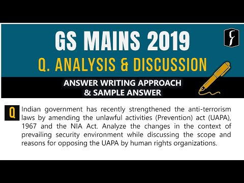 GS Mains - 2019: Question Analysis & Discussion - DNS, FOCUS, COMPASS, MTS