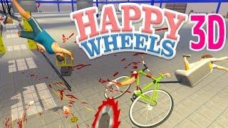 爆弾だらけの道で世界一危険なサイクリング!? - 3D版 Happy Wheels 実況プレイ