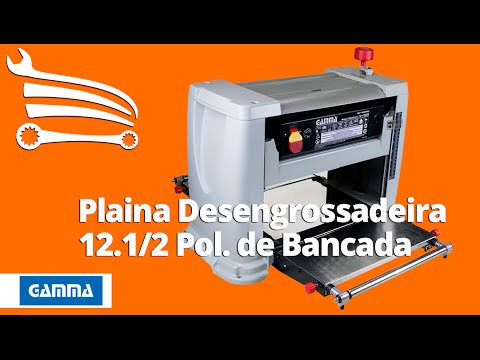 Plaina Desengrossadeira de Bancada 12.1/2 Pol 1500W  - Video