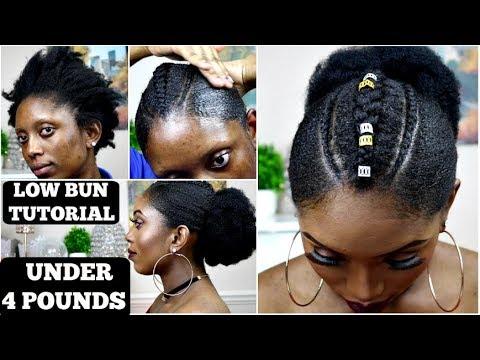 BOMB LOW BUN TUTORIAL FOR JUST £4 | NATURAL 4C HAIR TUTORIAL