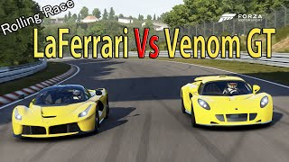 Hennessey venom vs bugatti veyron
