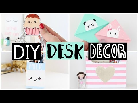 DIY DESK DECOR & ORGANIZATION IDEAS!