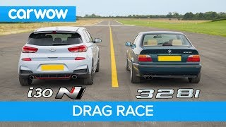 Hyundai i30N vs E36 BMW 328i - DRAG & ROLLING RACE & BRAKE TEST - can £2.8k beat £28k?