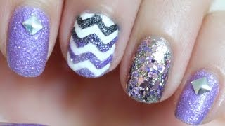 Textured Chevron Nails
