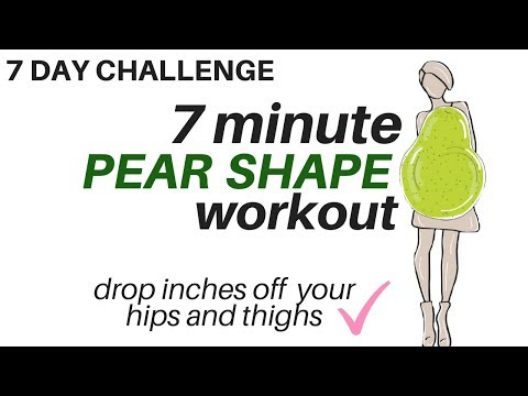 7 DAY CHALLENGE - 7 Minute Pear Shape Workout - Tones Thighs & Hips - START NOW