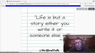 Write Your Own Story | Dr. J Real Talk Vlog Episode 18