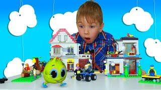 Рома играет в ЛЕГО СИТИ Ограбление Охота на преступника Мультик лего для детей Lego for kids