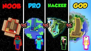 Minecraft NOOB vs. PRO vs. HACKER vs. GOD: SECRET PLANET HOUSE in Minecraft! (Animation)