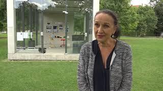 Heike Hahn eröffnet das temporäre Glücksinstitut in Gera
