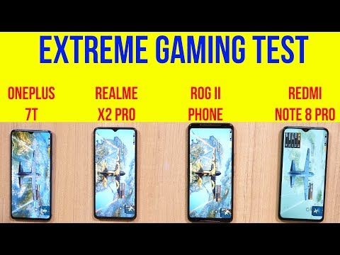 Realme X2 Pro vs OnePlus 7T, Redmi Note 8 Pro, ROG 2 : 2 Hour Gaming | Battery Drain | Heating Test