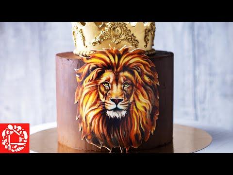 """Мастер-класс торта мужчине на тему """"Король Лев"""""""