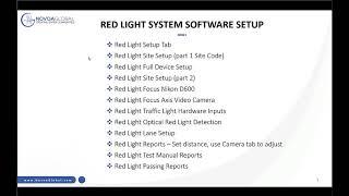 01 Red Light Setup Tab