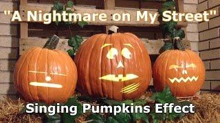Nightmare on My Street - Singing Pumpkins Animation Effect
