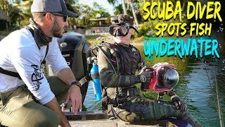 Cheat Codes For Fishing - Scuba Diver Searches UNDERWATER for BIG Fish! (Human Fish Finder!) - Video Youtube