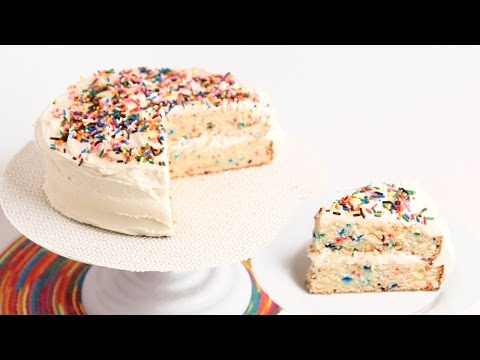 Confetti Birthday Cake Recipe – Laura Vitale – Laura in the Kitchen Episode 796