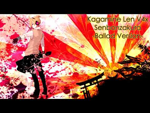 Download Kagamine Len V4x Senbonzakura Ballad Cover Video 3GP Mp4