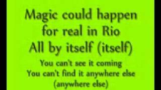 Real in Rio lyrics(Rio the movie)