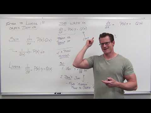 Introduction to Linear Differential Equations and Integrating Factors (Differential Equations 15)