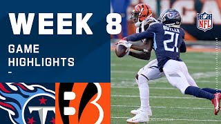 Titans vs. Bengals Week 8 Highlights | NFL 2020