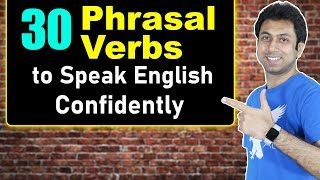 30 English Phrasal Verbs with Meaning   Learn English Speaking   Awal