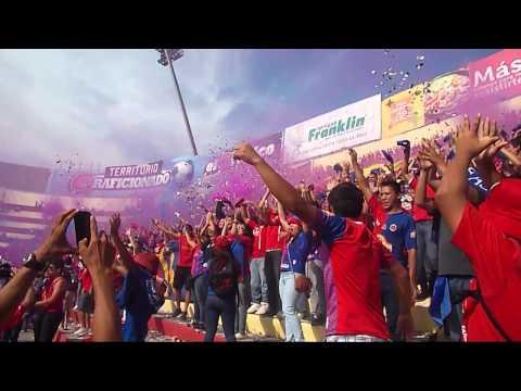 """RECIBIMIENTO FAS VS NY COSMOS"" Barra: Turba Roja • Club: Deportivo FAS"