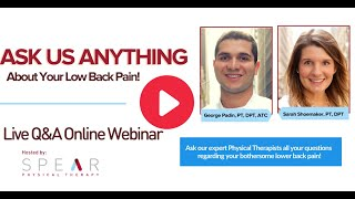 Ask Us Anything! About Lower Back Pain