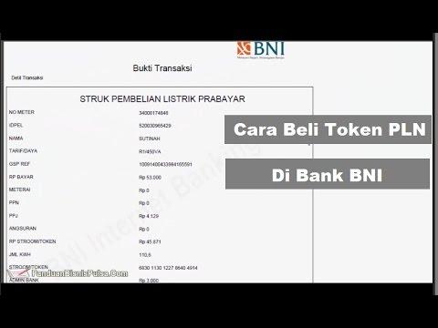 Cara Beli Token PLN Prabayar di BNI Internet Banking