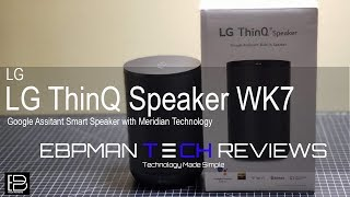 Review | LG ThinQ Speaker with Google Home Assistant